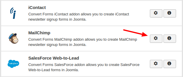 mailchimp convert forms addon
