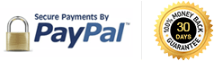 Safe payments by Paypal & 15-day 100% Money Back Guarantee!