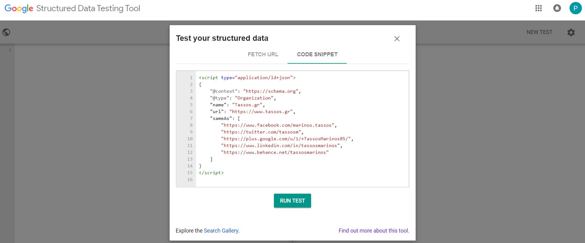 Google Stuctured Data Testing Tool