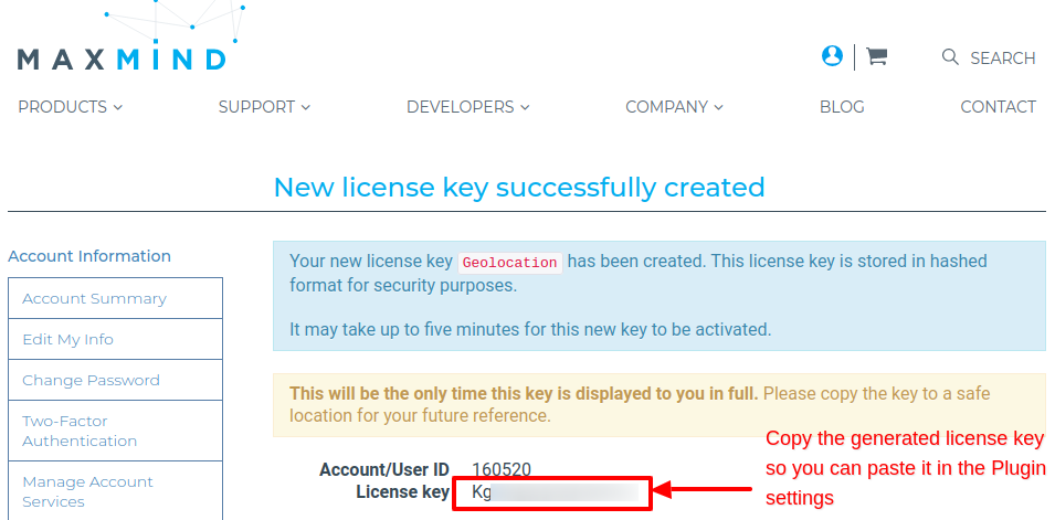 TGeoIP Copy License Key