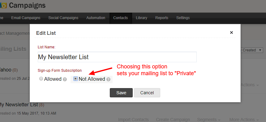 zoho-private-mailing-list