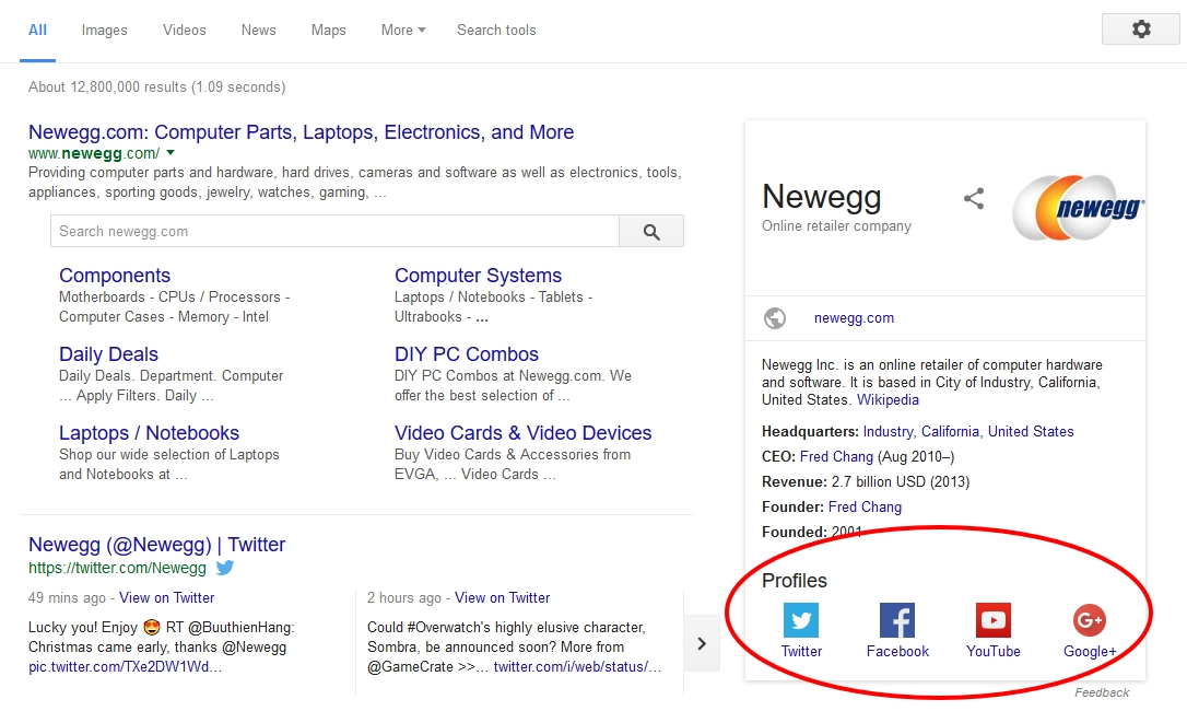 4 Steps to Add Social Media Links of your Joomla site to Google Results