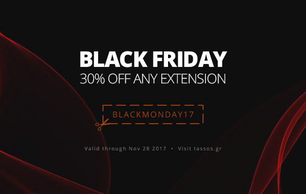 Black Friday and Cyber Monday 30% Deal