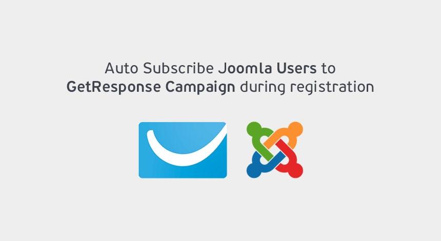 Joomla Extensions - GetResponse Auto Subscribe