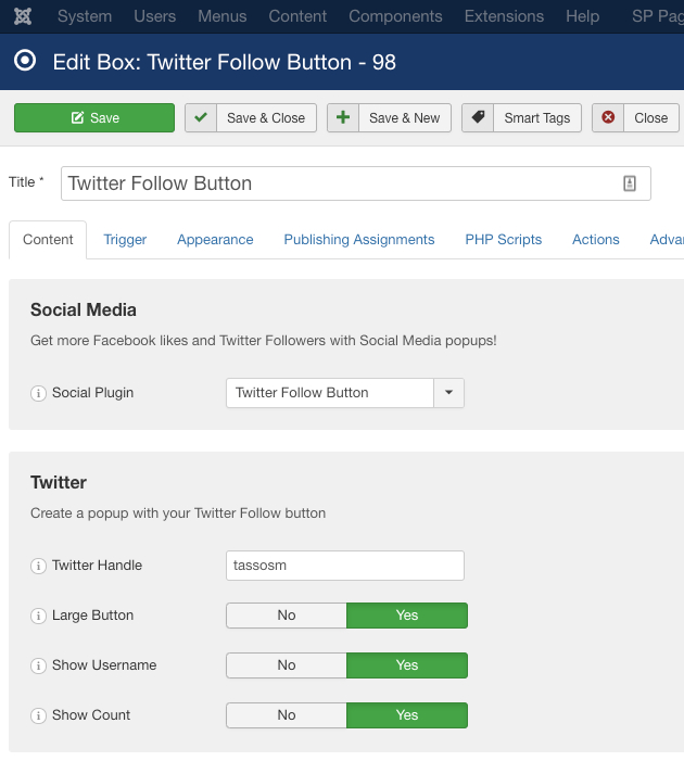 Create a Twitter Follow Button Box