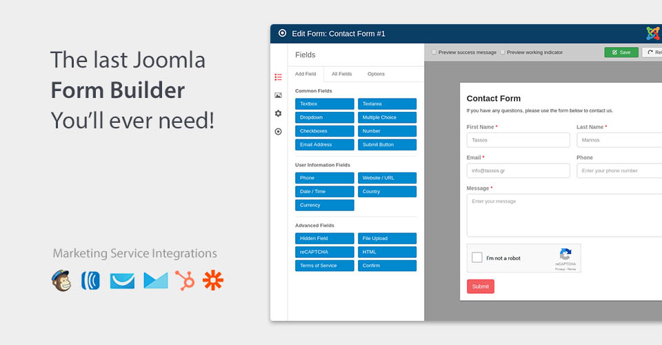 Joomla Extensions - Convert Forms