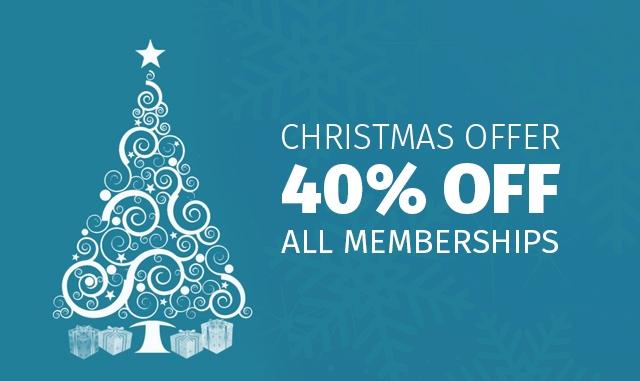 Christmas Offer - 40% Off All Memberships