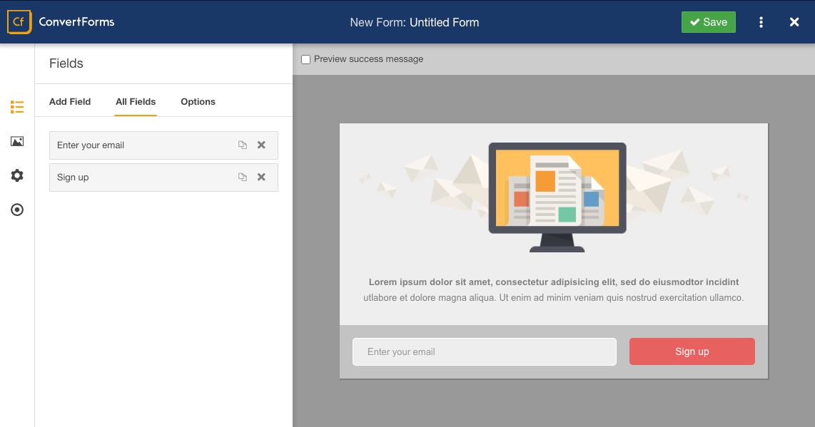 How to use the Form Builder