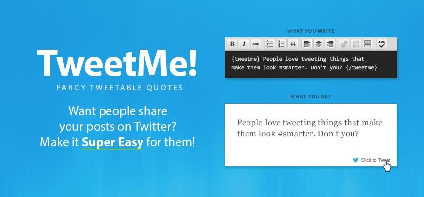 Introducing TweetMe - Fancy Tweetable Quotes for Joomla