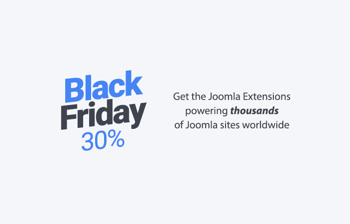 Black Friday 30% Joomla Sale 2020
