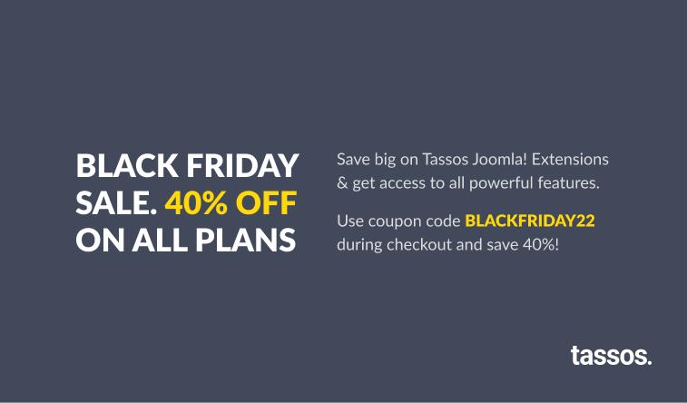 Black Friday 30% Joomla Sale 2020