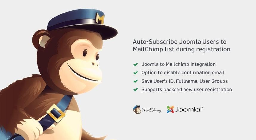 Joomla Extensions - MailChimp Auto-Subscribe