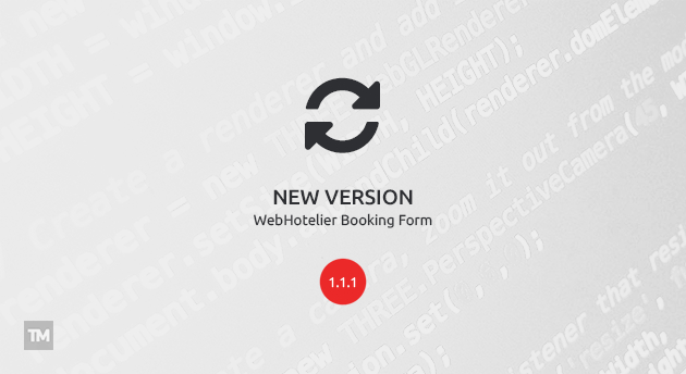 WebHotelier Booking Form 1.1.1 released